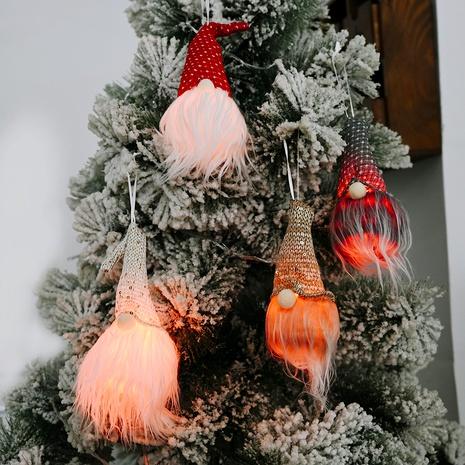 Muñeca sin rostro de Navidad luminosa pequeños adornos de árbol colgante NHHB291416's discount tags