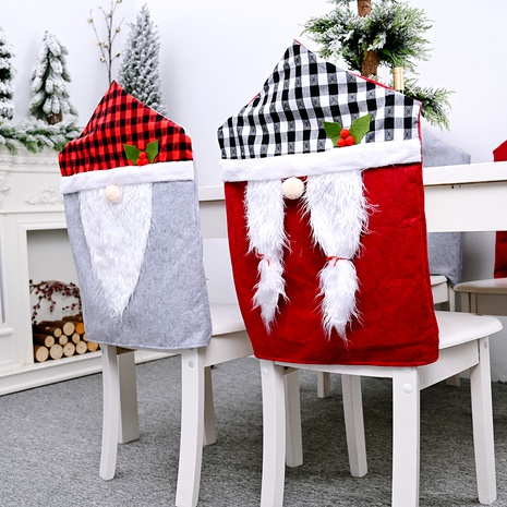 Christmas lattice faceless doll chair cover backrest NHHB291417's discount tags
