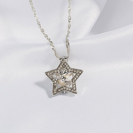 alloy five-pointed star pendant necklace NHAN291463's discount tags