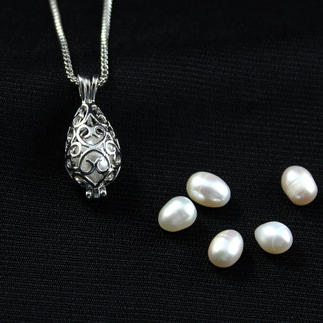 wishing bottle pearl necklace  NHAN291466's discount tags