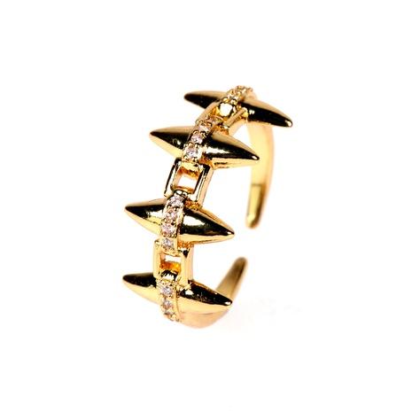 bague ouverte micro diamant rétro en cuivre NHPY291475's discount tags