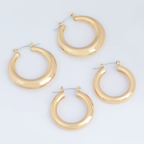 Simple round alloy earrings  NHJE291484's discount tags