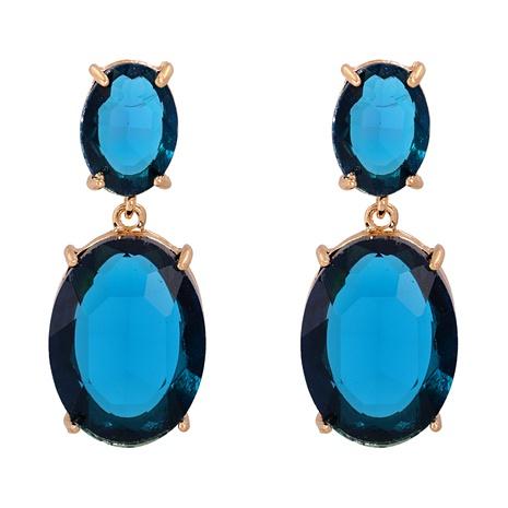 Fashion Korea Diamond  Aquamarine Retro Long Earrings NHJJ291499's discount tags