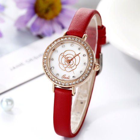 diamond round belt wrist female watch NHSR291007's discount tags