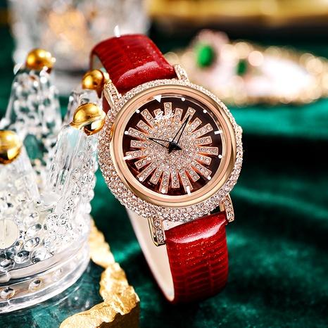 fashion turntable belt  diamond-studded  waterproof quartz watch  NHSR291014's discount tags
