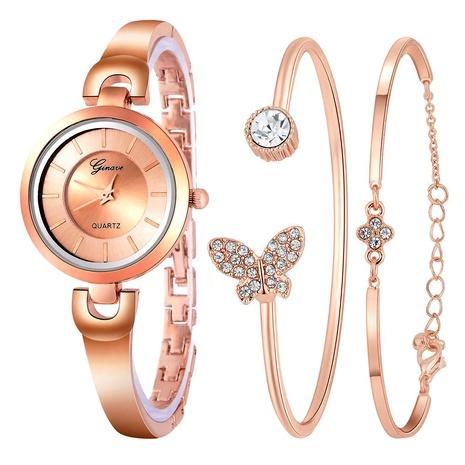 Trend Rhinestone Bracelet Set Three-piece  Watch NHSS291016's discount tags