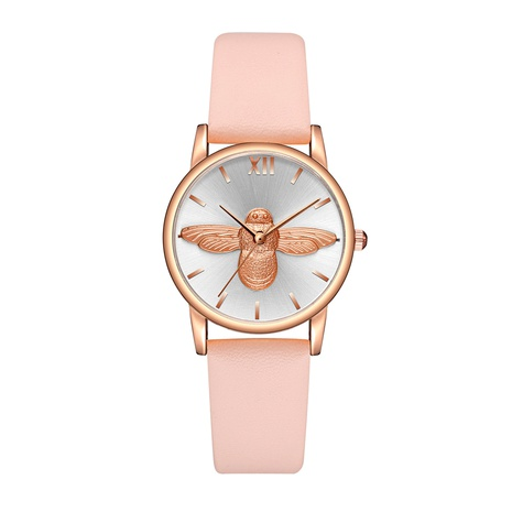 Nuevo reloj de cinturón de cuarzo con escala de patrón de abeja de moda coreana NHSS291029's discount tags