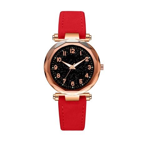 Reloj de correa de PU esmerilado con cara digital de moda de cielo estrellado NHSS291031's discount tags