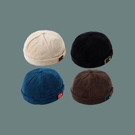Sombrero de pana azul de moda casero NHTQ291035's discount tags