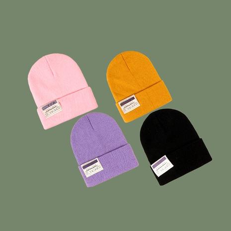 Sombrero hecho punto acrílico estándar del paño salvaje coreano de la moda NHTQ291048's discount tags