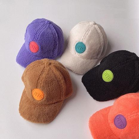 gorra de béisbol de color sólido de vellón para niños NHQU291053's discount tags