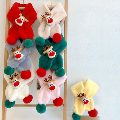 Christmas  cute double ball warm scarf NHQU291077's discount tags