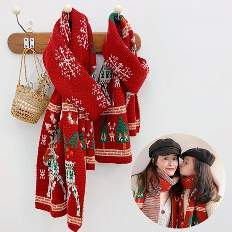 Parent-child Neck Winter Warm  Children's Scarf NHQU291079's discount tags