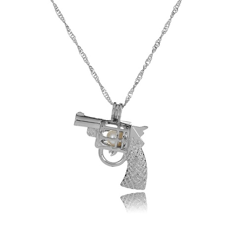hip-hop pearl gun cage pendant necklace  NHAN291096's discount tags