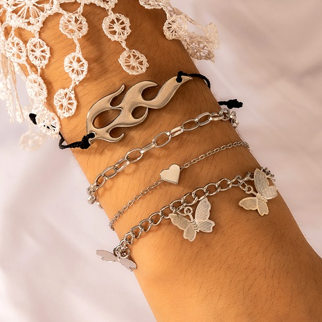multi-layer butterfly pendant bracelet NHGY291805's discount tags