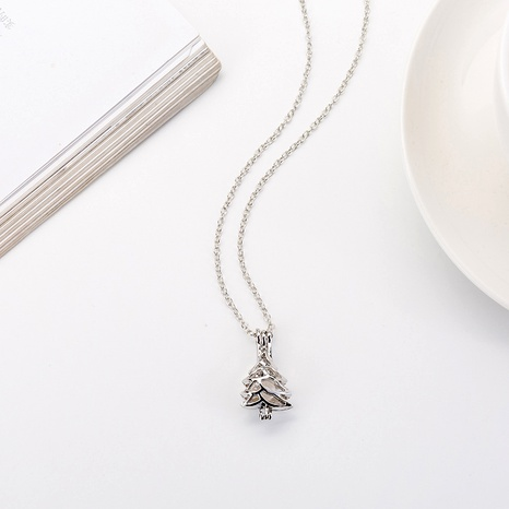 Christmas alloy tree pearl necklace NHAN291459's discount tags
