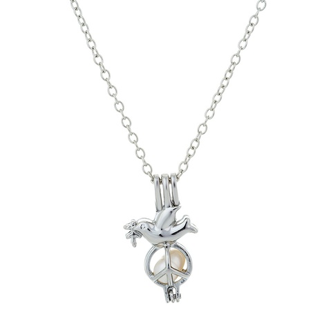 Pearl Peace Dove Pendant Necklace Wholesale NHAN291456's discount tags
