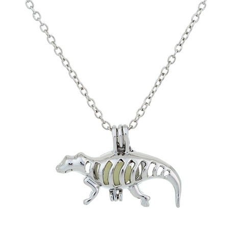 dinosaur pendant pearl necklace NHAN291453's discount tags