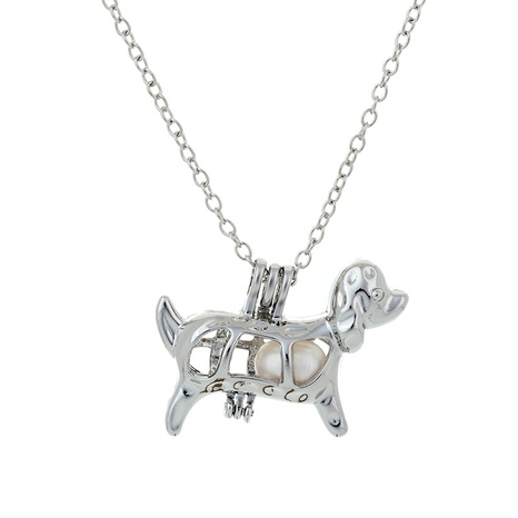 animal pendant pearl necklace NHAN291451's discount tags