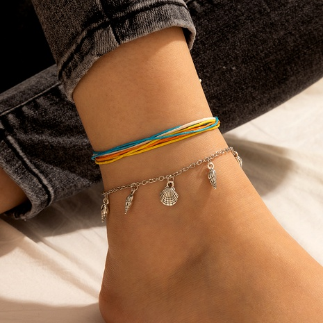 simple scallop conch pendant multi-layer anklet  NHGY291812's discount tags