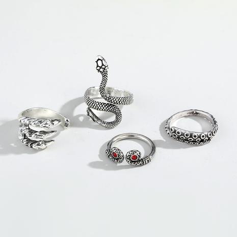 Juego de anillos de metal retro Punk Snake NHGO290826's discount tags
