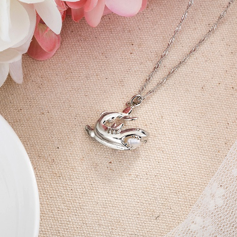 fashion shark pendant pearl necklace NHAN291105's discount tags