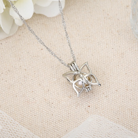 small butterfly pearl necklace NHAN291104's discount tags
