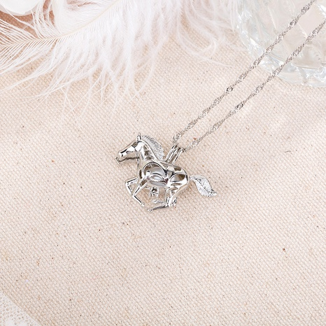 pearl horse pendant necklace  NHAN291102's discount tags