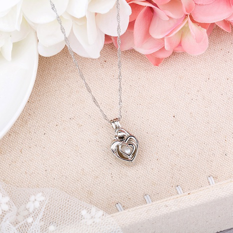 openable heart-shaped luminous necklace  NHAN291100's discount tags