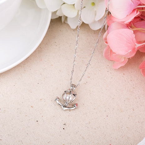pearl anchor pendant necklace NHAN291099's discount tags