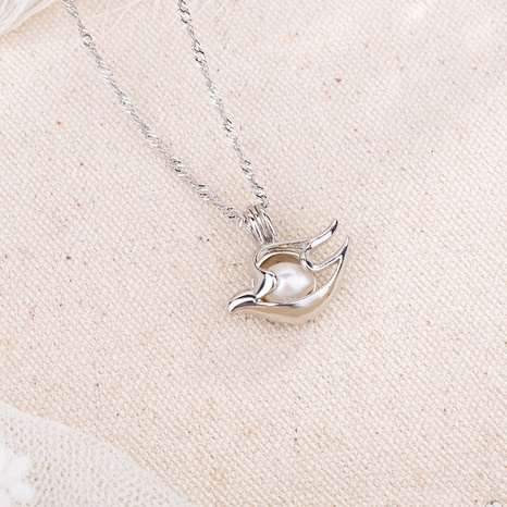 hollow pearl cage pendant dove necklace NHAN291095's discount tags