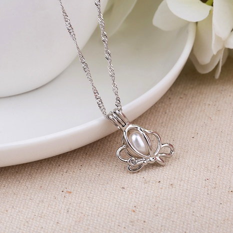 fashion simple pearl flower pendant necklace  NHAN291094's discount tags