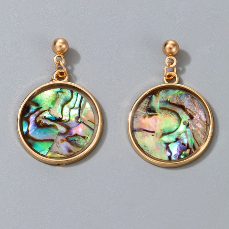 Metallic asymmetrical colorful disc earrings NHGY291814's discount tags