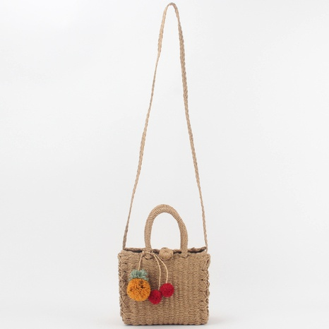beach style woven one-shoulder bag  NHTG291563's discount tags