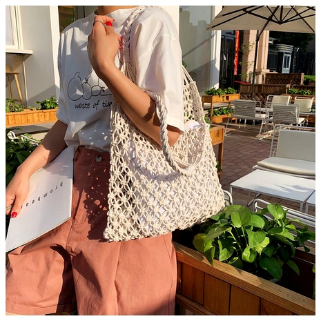 woven one shoulder fashion handbag  NHTG291562's discount tags