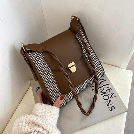 Retro fashion messenger one-shoulder bag NHJZ291621's discount tags