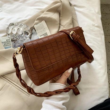 fashion crocodile pattern casual one-shoulder bag NHJZ291642's discount tags