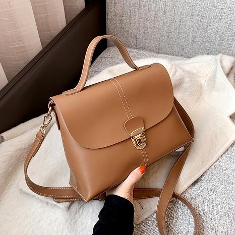 soft leather single shoulder messenger bag NHJZ291644's discount tags