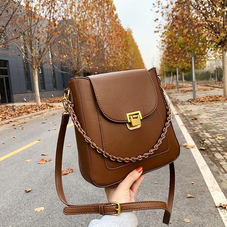 fashion simple one-shoulder retro bag NHJZ291650's discount tags