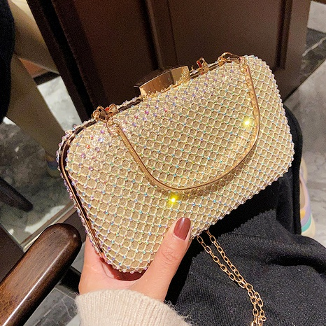 pearl beaded mini bag NHJZ291665's discount tags