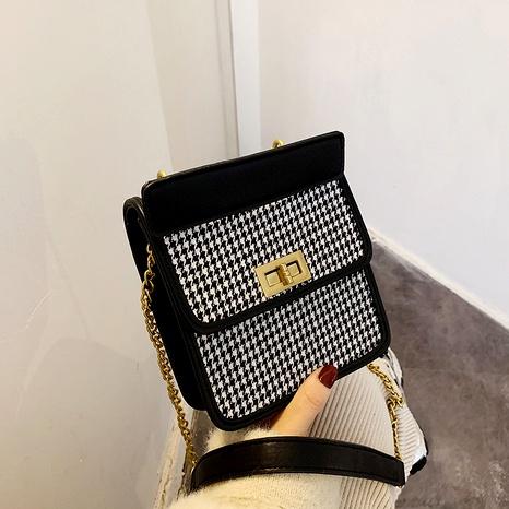 retro lattice fashion small square bag  NHJZ291666's discount tags