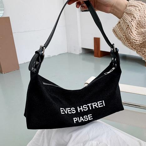 fashion canvas one shoulder underarm bag  NHEX291750's discount tags