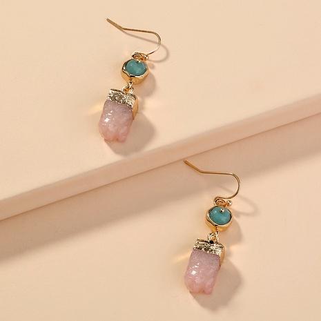 irregular pink crystal earrings  NHAN291890's discount tags