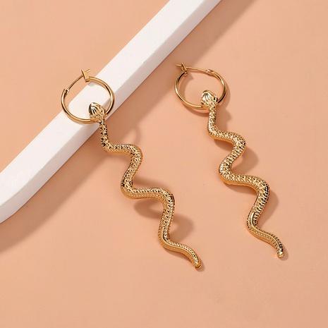 boucles d'oreilles simples en forme de serpent NHAN291898's discount tags