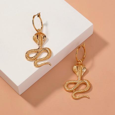 boucles d'oreilles rétro cobra en métal NHAN291933's discount tags