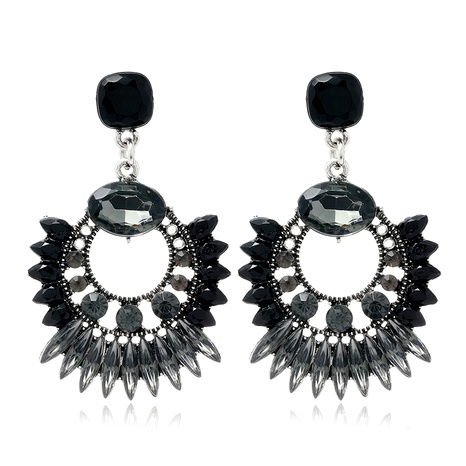 fashion concise sparkling gemstone earrings NHSC289512's discount tags