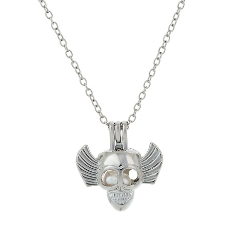 alloy horror big ear skull pearl necklace NHAN291924's discount tags