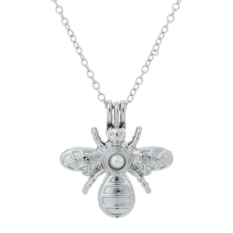 bee pearl pendant fashion necklace NHAN291917's discount tags