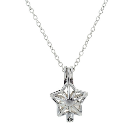pearl five-pointed star magic box pendant necklace NHAN291915's discount tags
