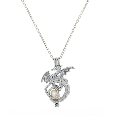fashion dragon pendant pearl necklace  NHAN291913's discount tags